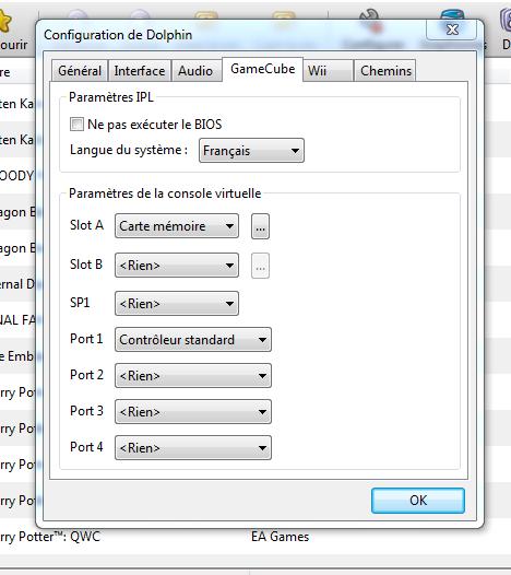 configurer emulateur gamecube et wii dolphin 3 5 7