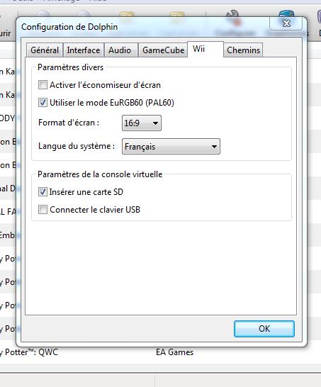 configurer emulateur gamecube et wii dolphin 3 5 8