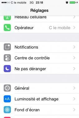 limiter l acces du iphone en activant mode guide 1