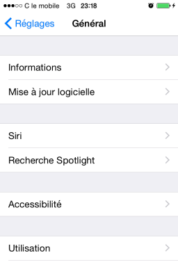 limiter l acces du iphone en activant mode guide 2