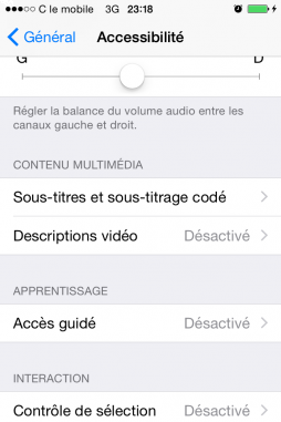 limiter l acces du iphone en activant mode guide 3