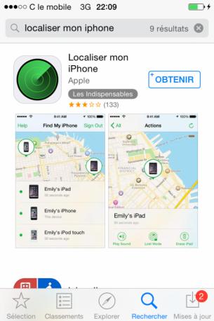 localiser un iphone avec un autre iphone 1