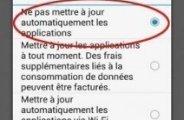 Désactiver mise à jour automatique applications android