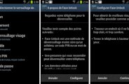 Déverrouillage faciale android