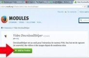 Télécharger une vidéo Internet avec DownloadHelper