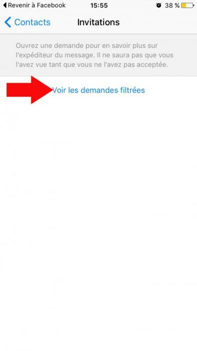 acceder au messages filtres sur facebook messenger 3