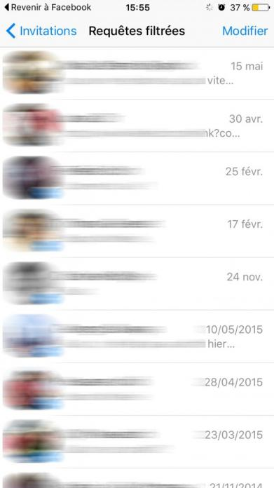 acceder au messages filtres sur facebook messenger 4