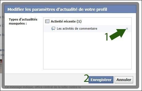 afficher les activites recentes facebook 2