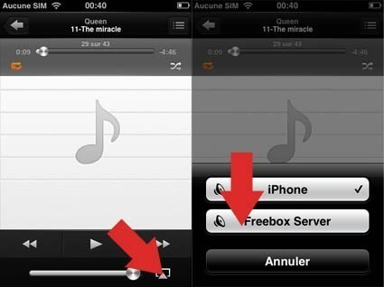 airplay freebox avec iphone 3