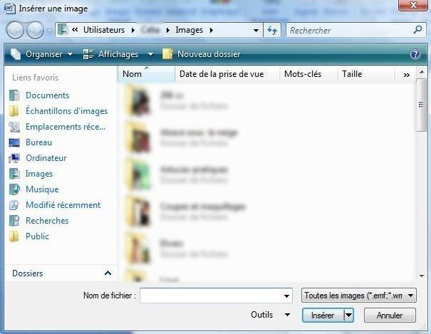 ajouter une image ou une image clipart sur office 2007 2