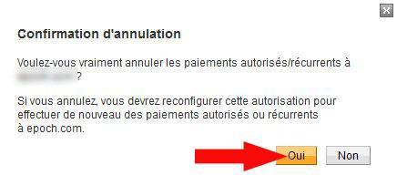 annuler prelevement automatique paypal 5