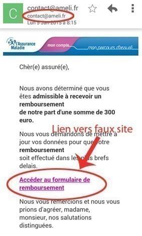 b29a2f2c1021f Arnaque mail ameli - Astuces Pratiques
