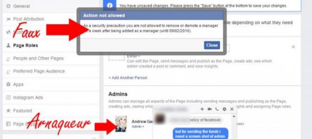 arnaque vol de page facebook 2