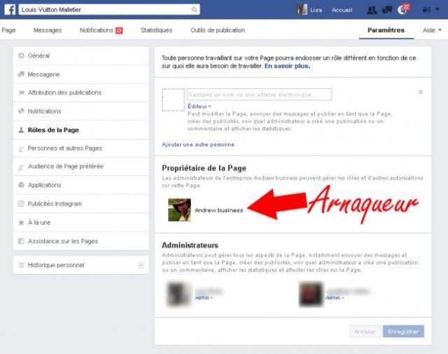 arnaque vol de page facebook 3
