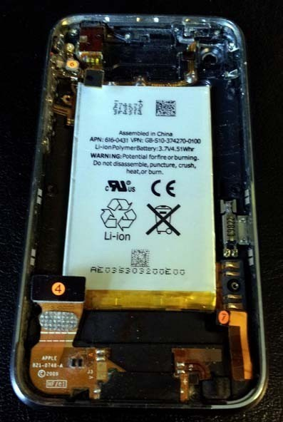 changer batterie iphone 3gs 6