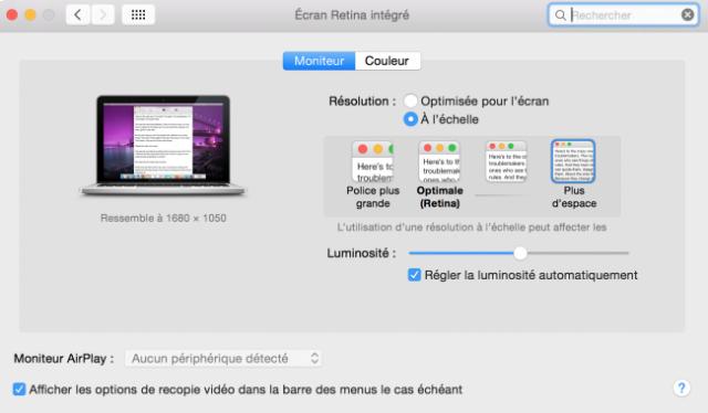 changer la resolution sur mac 3