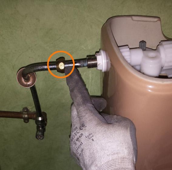 changer le robinet flotteur d un wc 2