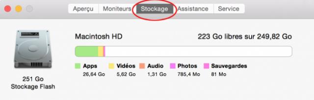 comment savoir l espace libre sur le disque dur mac 2
