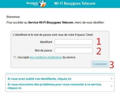connexion a un hotspot bouygues telecom wi fi 2