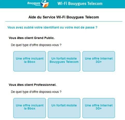 connexion a un hotspot bouygues telecom wi fi 3