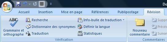Corriger vos fautes d'orthographe ou de grammaire sur Office 2007