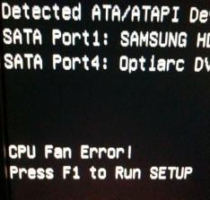 cpu fan error 3