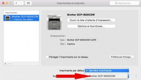 definir imprimante par defaut mac 4