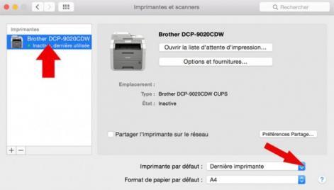 definir imprimante par defaut mac 3