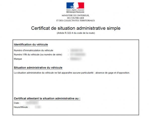 demande de certificat de non gage 2