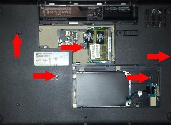 demonter changer clavier sur hp g72 1