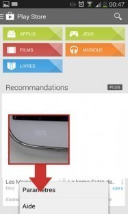 desactiver mise a jour automatique applications android 2