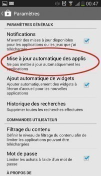 desactiver mise a jour automatique applications android 3