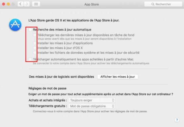 disable mac osx update 5