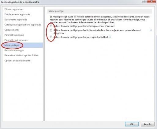 desactiver mode protege office et word 4