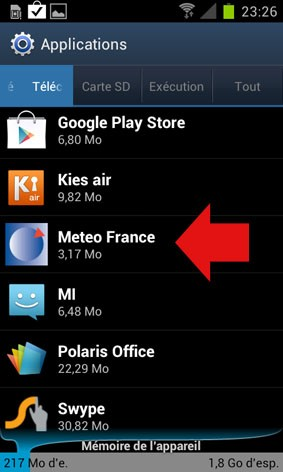 desinstaller une application android 3