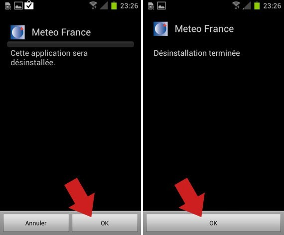 desinstaller une application android 5