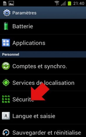 deverrouillage faciale android 2