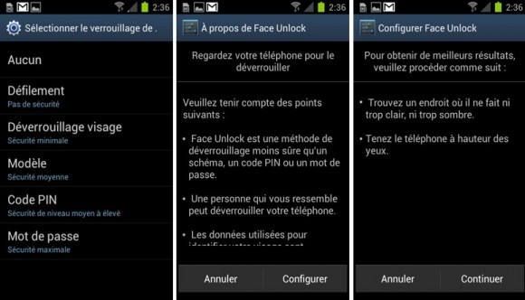 deverrouillage faciale android 3