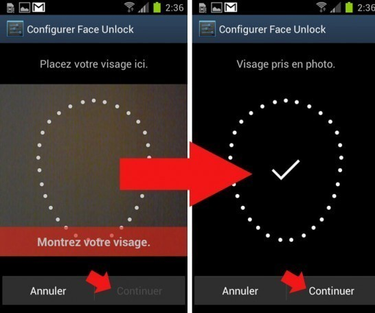 deverrouillage faciale android 4