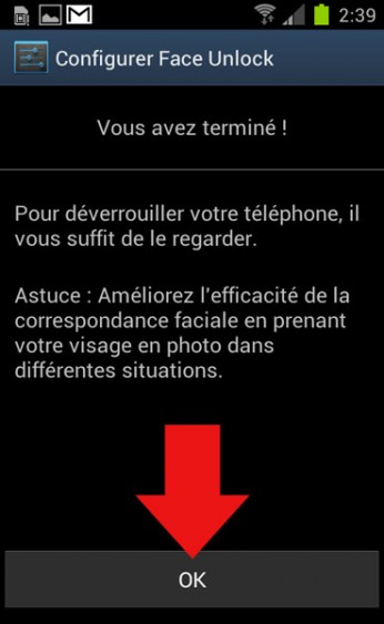 deverrouillage faciale android 6