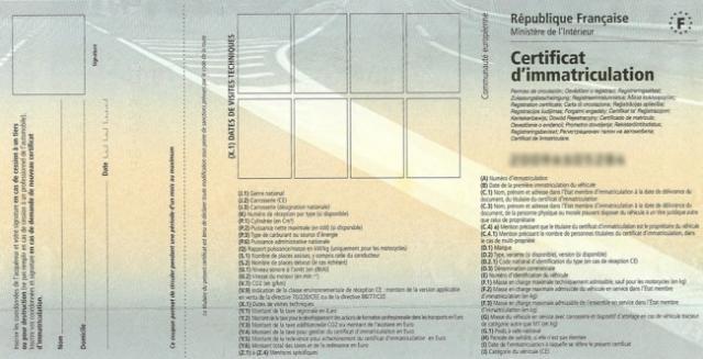 documents necessaires pour faire ou refaire une carte grise 0