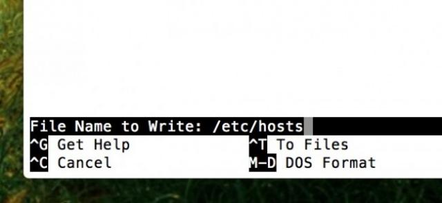 editer fichier host mac 4