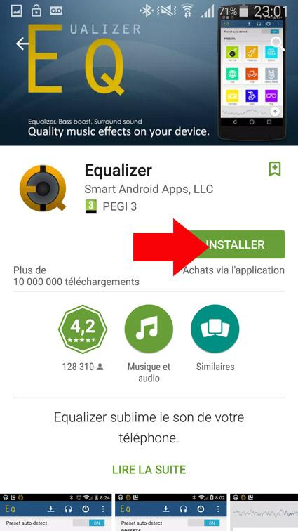 egaliseur de son android 2
