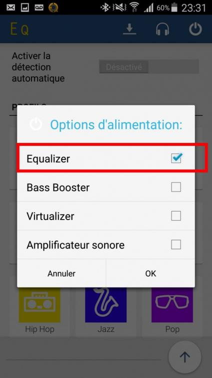 egaliseur de son android 5