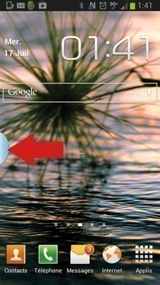 enlever onglet bleu sur android samsung