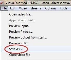 faire pivoter une video avec virtualdub 8