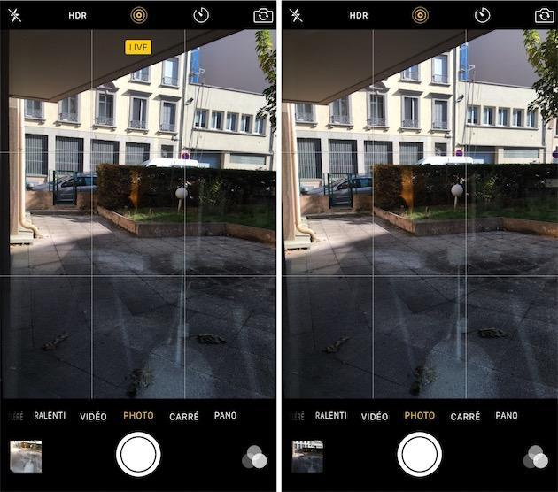 faire une photo live iphone 6s 2