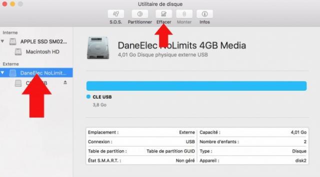 formater une cle usb sur mac 3