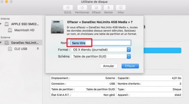 formater une cle usb sur mac 4