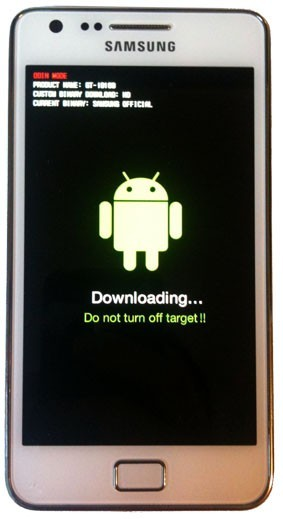 galaxy s2 en mode download ou odin 2